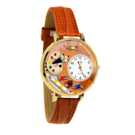 Personalized Artist Watch in gold or silver case at PalmBeach Jewelry
