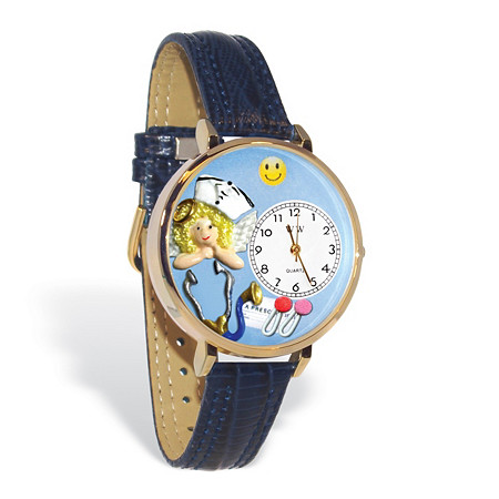 Personalized Nurse Angel Watch in gold or silver case at PalmBeach Jewelry