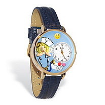 Personalized Nurse Angel Watch in gold or silver case