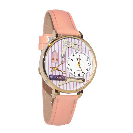 Personalized Beautician Female Watch in gold or silver case at PalmBeach Jewelry