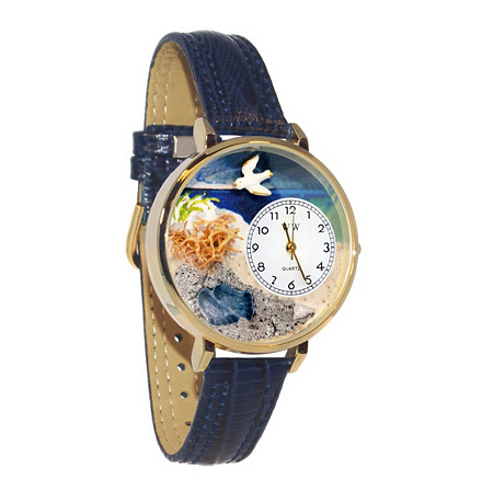 Personalized Footprints Watch in gold or silver case at PalmBeach Jewelry
