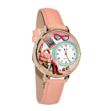 Personalized Shopper Mom Watch in gold or silver case at PalmBeach Jewelry