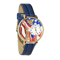 Personalized July 4th Patriotic Watch in gold or silver case