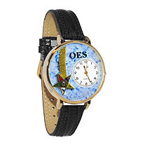 Personalized Order of the Eastern Star Watch in gold or silver case