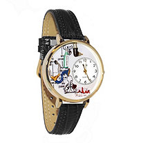 Personalized Respiratory Therapist Watch in gold or silver case