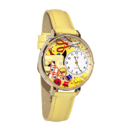 Personalized Sewing Watch in gold or silver case at PalmBeach Jewelry