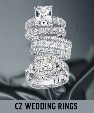 CZ Wedding and Engagement Rings
